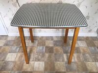 Retro 1960s Kitchen Table - Gingham Formica in fabulous condition