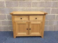 NEW Solid Oak Sideboard With Two Drawers and Two Doors
