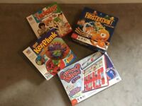 Bundle of children's MB games including twister frustration ker plunk and electronic guess who