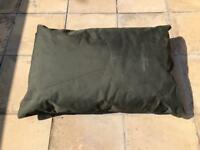 Large outside waterproof green dog bed