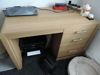 Desk For Sale - Great Condition - £40 o.n.o - 3 Drawers - Chrome Handles