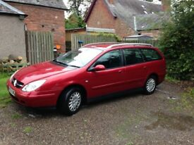 2002 Citroen C5 2.0 SX Estate. MOT November 2018. Used daily and drives well.