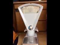 Shabby chic country kitchen scales