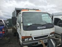 Isuzu nqr Breaking spare parts ab available bumper bonnet light door wheel axel