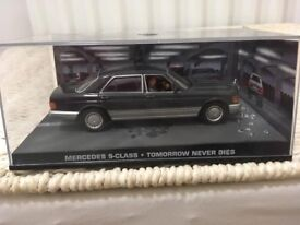 1:43 Mercedes S-Class - JAMES BOND COLLECTION - Tomorrow Never Dies - FABBRI