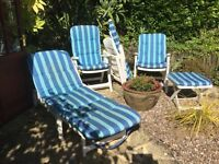 Garden Chairs and Sunlounger