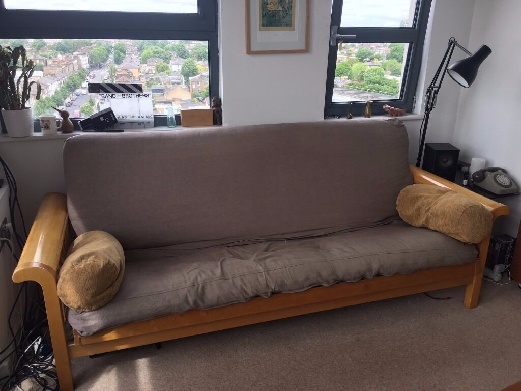 Futon Company 3 Seater Sofa Bed 2 Covers