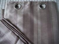 pair of John Lewis curtains, faux silk, VGC