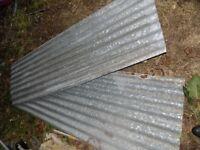 assortment of corrugate sheets