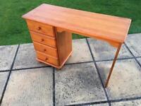 Pine Dresser/Desk With Drawer Unit
