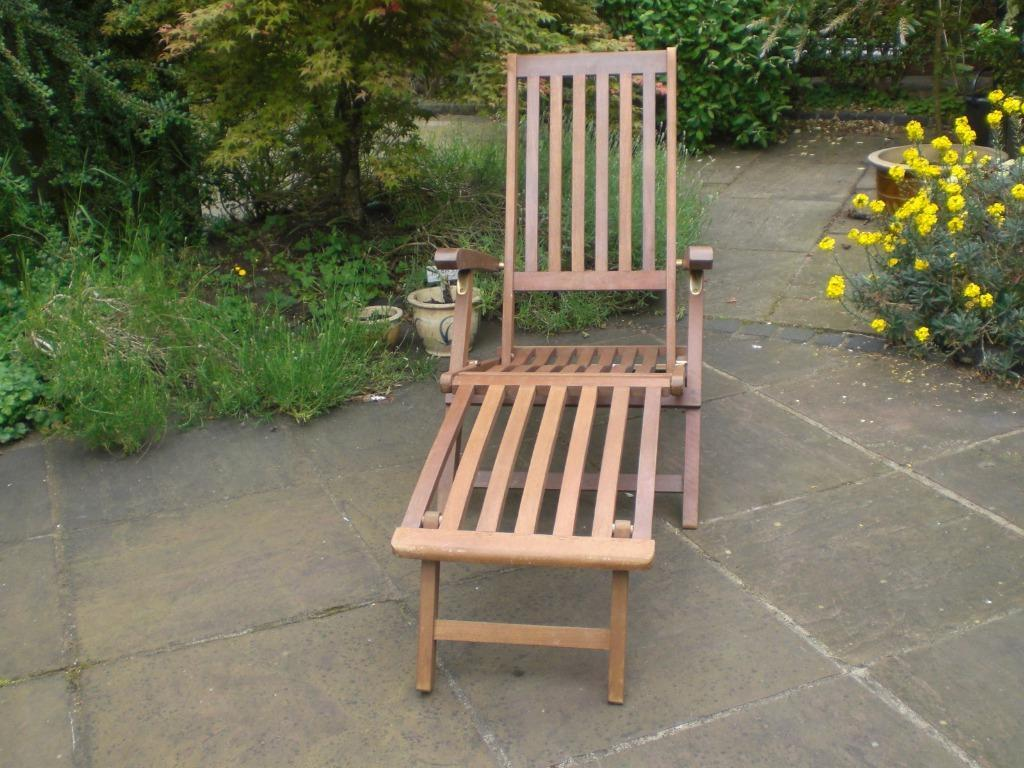 Teak garden lounger steamer united kingdom gumtree for Outdoor furniture gumtree