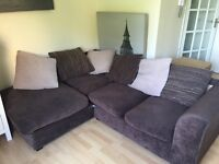 Brown L-shaped Corner Sofa QUICK SALE