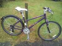 "Victoria pendleton brooke Ladies hybrid bike 16"" Frame 24 gears. Recently serviced and all good."
