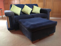 2 Seater Settee with Footstall