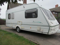 Abbey Cabaret 2000 5 Berth with motor mover, full awning, ready to holiday.