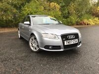 2007 AUDI A4 2.0 TFSI QUATTRO 4WD SLINE SPECIAL EDITION GREY GREAT CAR MUST SEE £6750 OLDMELDRUM