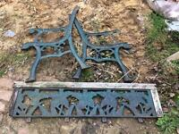 Wrought iron seat sides and back