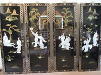 VINTAGE AND GORGEOUS 4 MOTHER OF PEARL PANELS