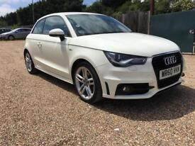 Audi a1 1.4 tfsi s line automatic petrol 60 reg-3 dr white hpi clear low miles part exchange welcome