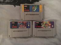 3 Snes Super Nintendo Games for Sale