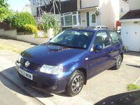 2000 x reg vw polo 1.4 petrol manual blue