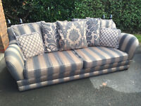 DFS Living Room Suite (Sofa, Cuddle Chair, Footstool)