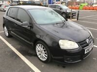 VW GOLF 1.4 GT TSI 170BHP MANUEL 5DR BLACK 2007/07 REG GENIUNE 95K MILES FSH NEW 1 YEAR MOT