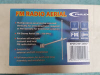 Philex Vision FM Radio Aerial Outdoor Roof Loft Halfwave Dipole Multipurpose New
