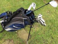 Slazenger Firesteel 2 golf clubs and Dunlop bag