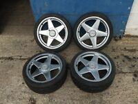 "BMW E30 325i 17"" Azev A Alloy Wheels 7.5J 4x100 VW Golf GTi BBS Alpina Hartge"