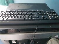 Phillips conputer screen & vaio monitor also with keyboard and mouse