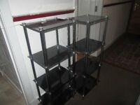 two glass black units ,perfect condition ,£30 for two ,or £20 for one