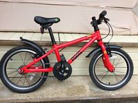 'Frog' bright red bike, very good condition, fits 4,5,6 year old, barely one year old