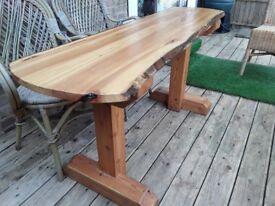 Waney edge/ Live wood/ Sustainable wood/ handmade table