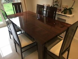 Luxury Dining Room Table - Canaletto walnut hand built Italian hi gloss