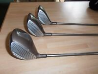 Men's , North-Western, Titanium Driver, plus 3 and 5 fairway wood's,