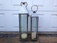 2 large garden lanterns £40.00 or offers