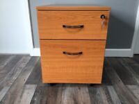 Immaculate two drawer teak filing cabinet
