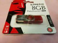 Kingston usb memory stick 8GB new with box