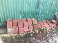 Red quarry floor tiles