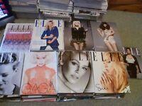 89 copies of Elle magazine