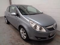 VAUXHALL CORSA DESIGN , 2008/58 REG , ONLY 54000 MILES + FULL HISTORY , YEARS MOT, FINANCE, WARRANTY