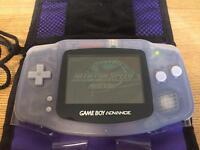 GameBoy Advance Classic Games Console + Need For Speed + Sim City + Case