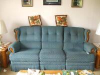 Lazy Boy recliner sofa and recliner rocking chair approx 15 yrs