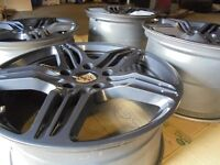 """19"""" PORSCHE STAGGERED TURBO gunmetal ALLOY WHEELS FITS 911 996 CAYMAN BOXSTER"""