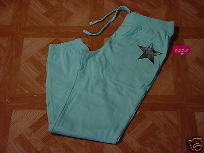 Hard Candy Junior Girls Aqua Drawstring Sweatpants Size 7-9