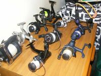 fishing gear for sale,EVERYTHING,FROM TACKLE,RODS(8)REELS(9)BIVVY BED