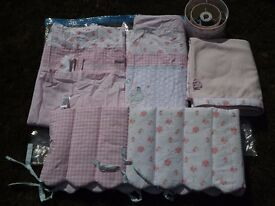 Mothercare Cot Blanket, curtains, lampshade and bumper, VGC £15 Now £10