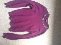 Topshop purple embellished neckline jumper (12)
