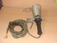Vintage Metway Inspection Lamp 60 Watts Gripper Caged Light Working Rare